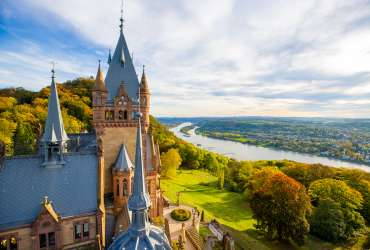 View from Top of Drachenfells Castle Konigswinter Germany