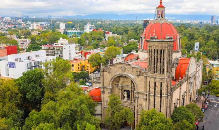 Church Near Chapultepec Park Mexico City CDMX