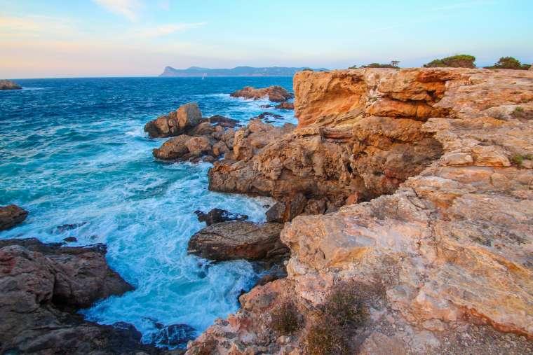 Sunset on Ibiza Island Spain
