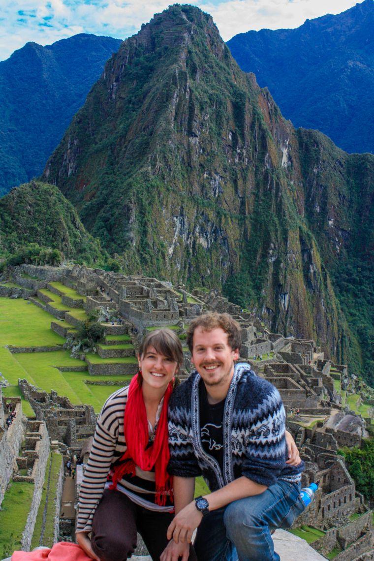 Tourists at Machu Picchu Peru