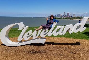 Cursive Cleveland Ohio Sign