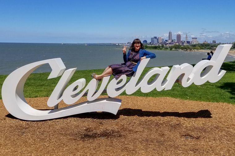 Cursive Cleveland Ohio Sign