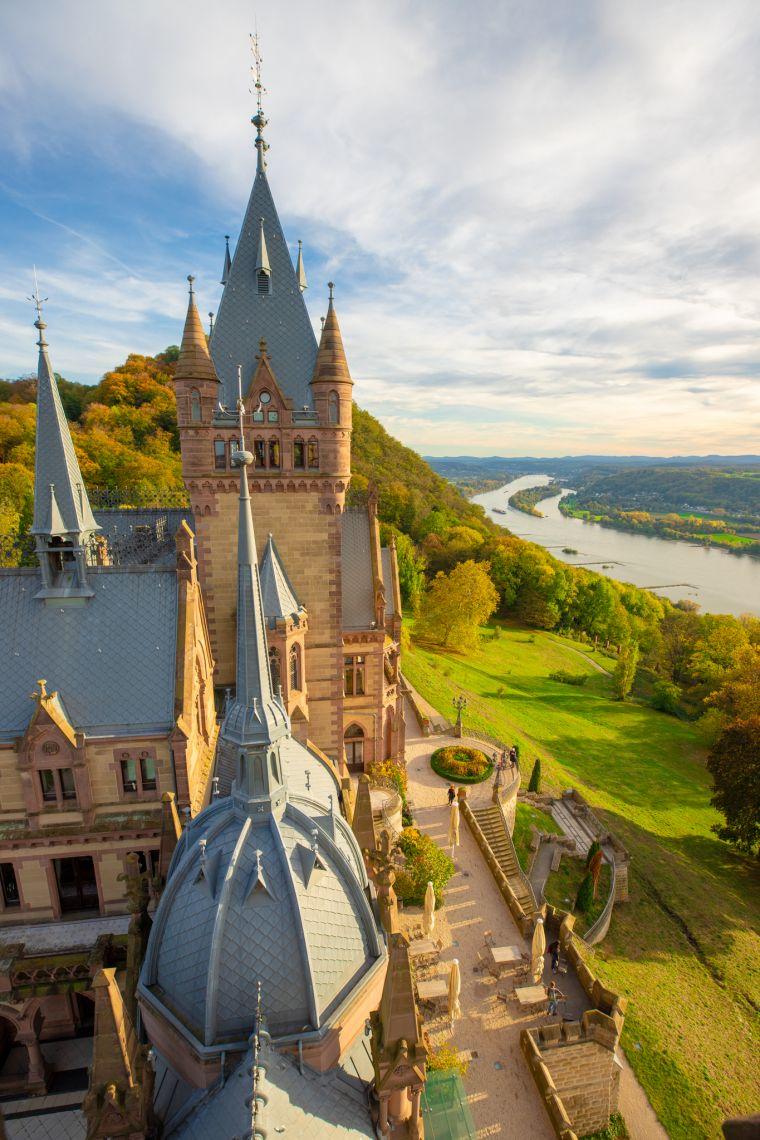 Top of Drachenfells Castle Konigswinter Germany