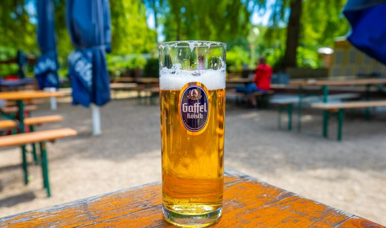 Aachen Pond Beer Garden Cologne Germany