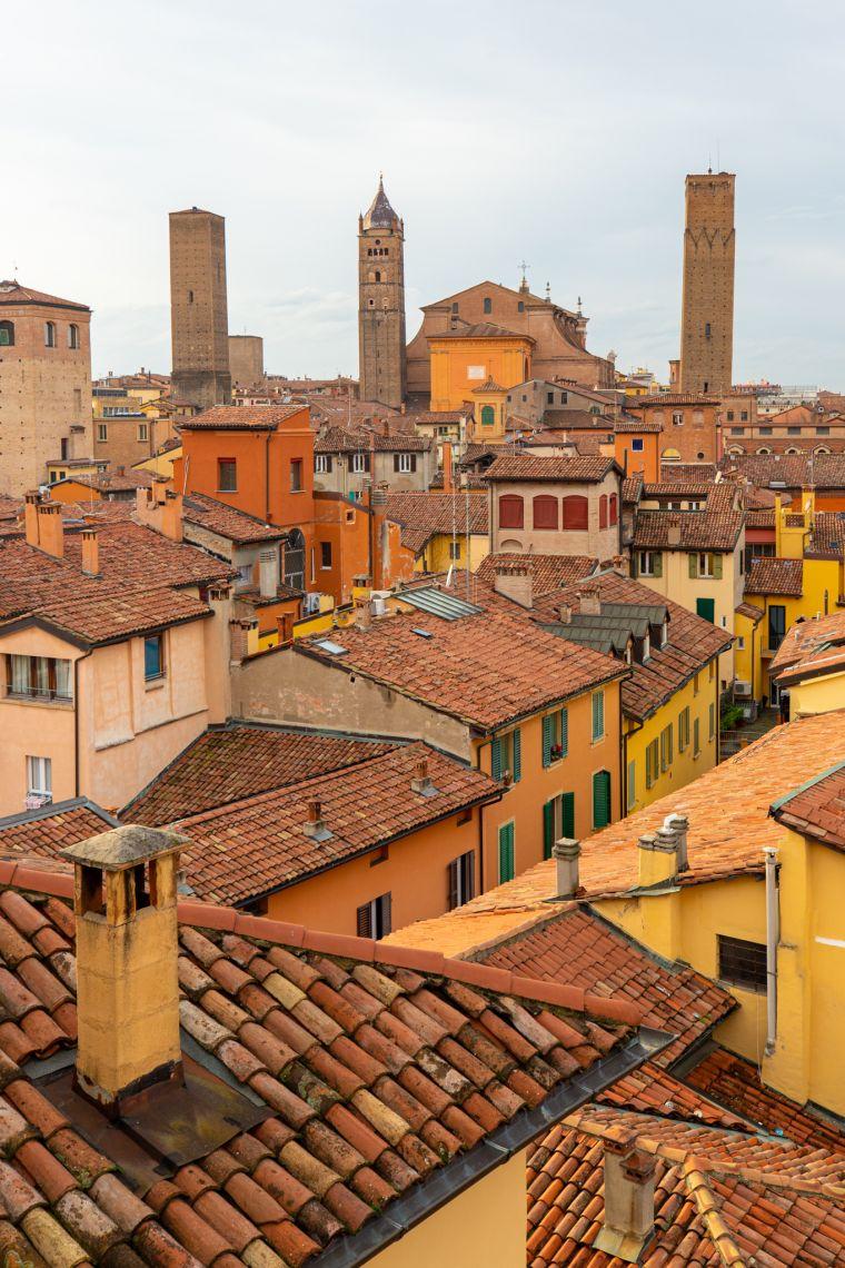 Skyline of Bologna Italy