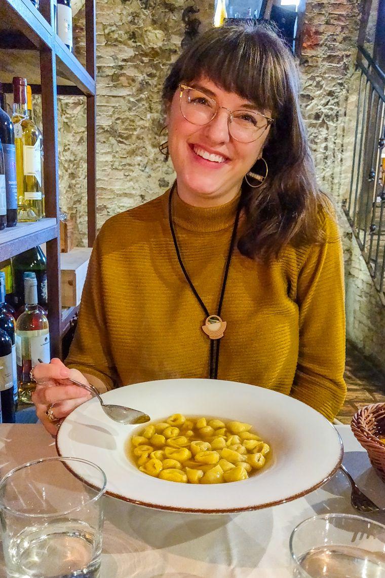 Tortellini en Brodo Bologna Italy